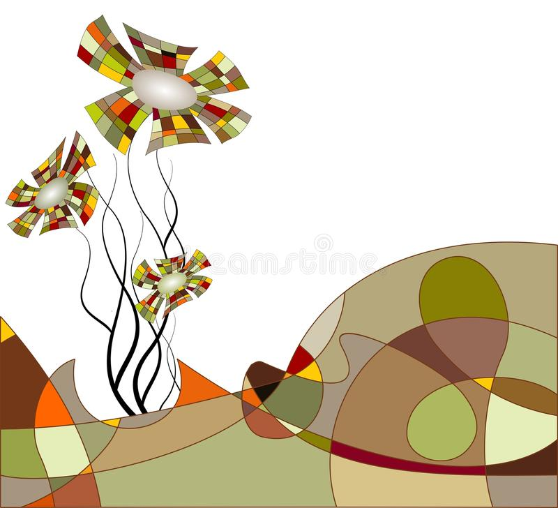 Download Abstract Landscape With Flowers Stock Vector - Image: 12203843