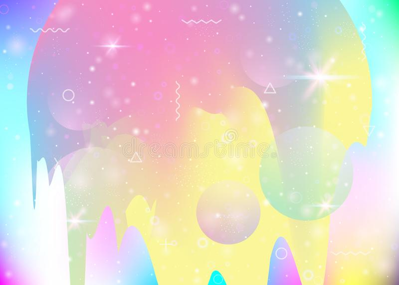 Abstract landscape with holographic cosmos and future universe b royalty free illustration