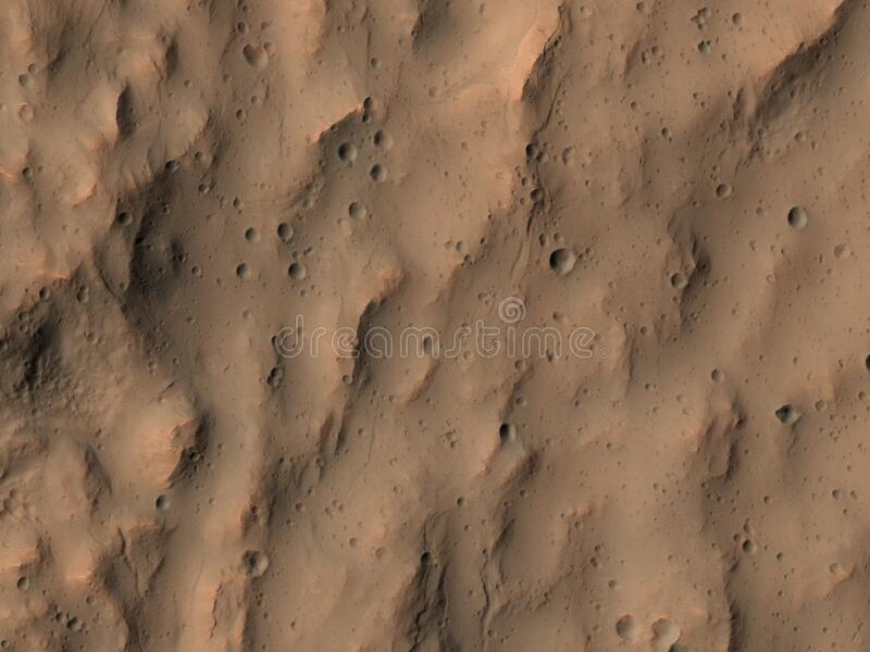 Abstract landscape on Mars royalty free stock photo