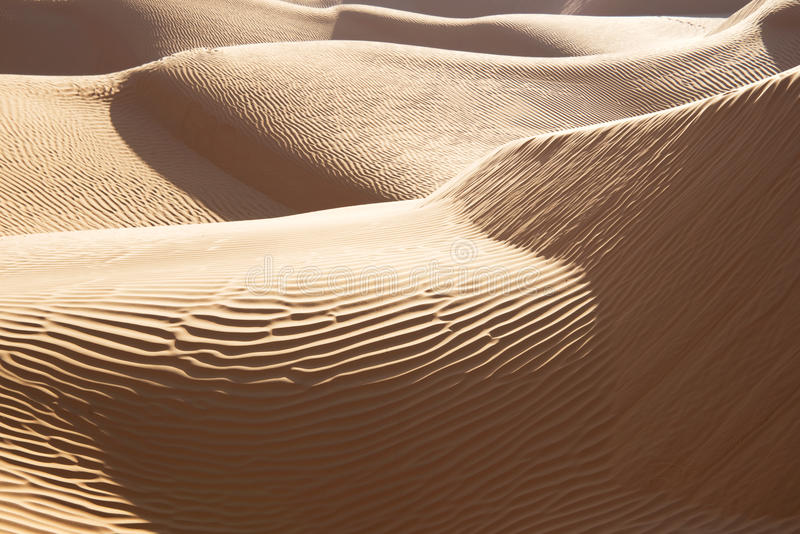 Abstract landscape in the Sand dunes desert of Sahara. South Tunisia royalty free stock photo