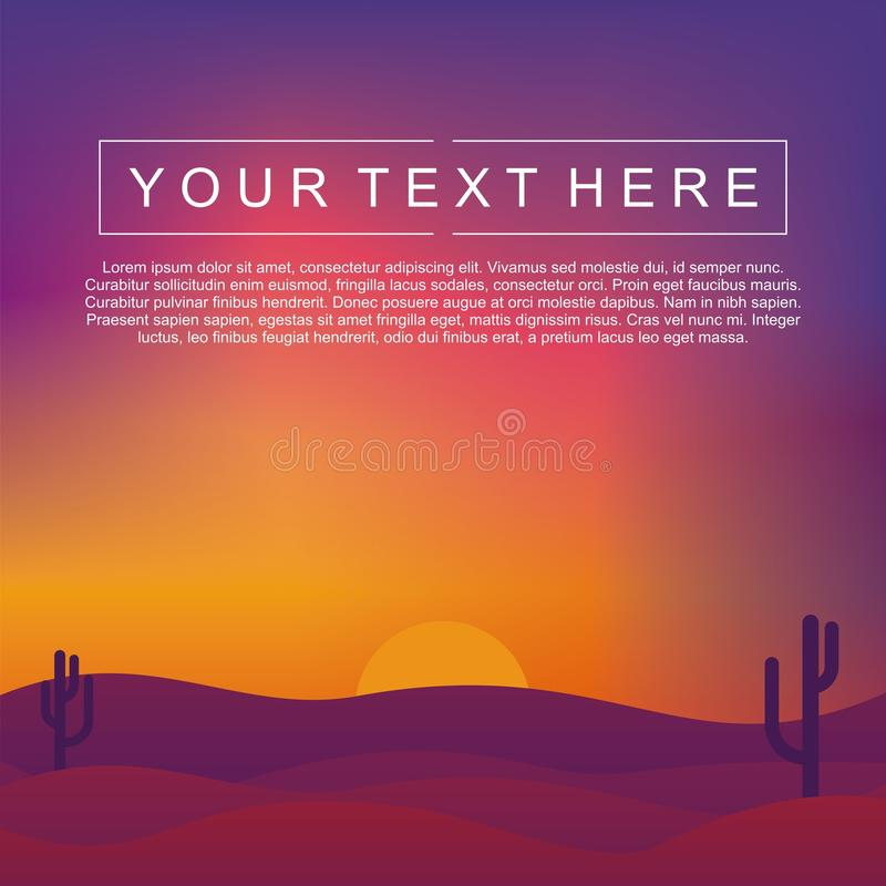 Abstract Landscape Vector With Bright Gradient Colors. Sunset Vector vector illustration