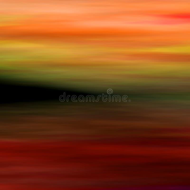 Abstract landschap 3 royalty-vrije illustratie