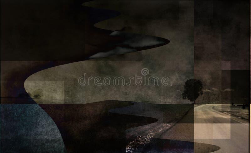 Abstract Landschap stock illustratie