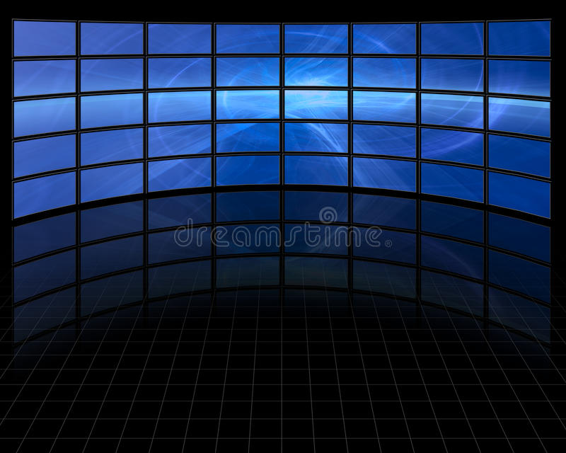 Abstract on Large Set Screens. Abstract on Large Set of Screens stock illustration