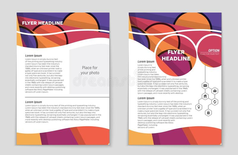 Abstract layout background set. For art template design, list, front page, mockup brochure theme style, banner, idea, cover. Booklet, print, flyer, book, blank stock illustration