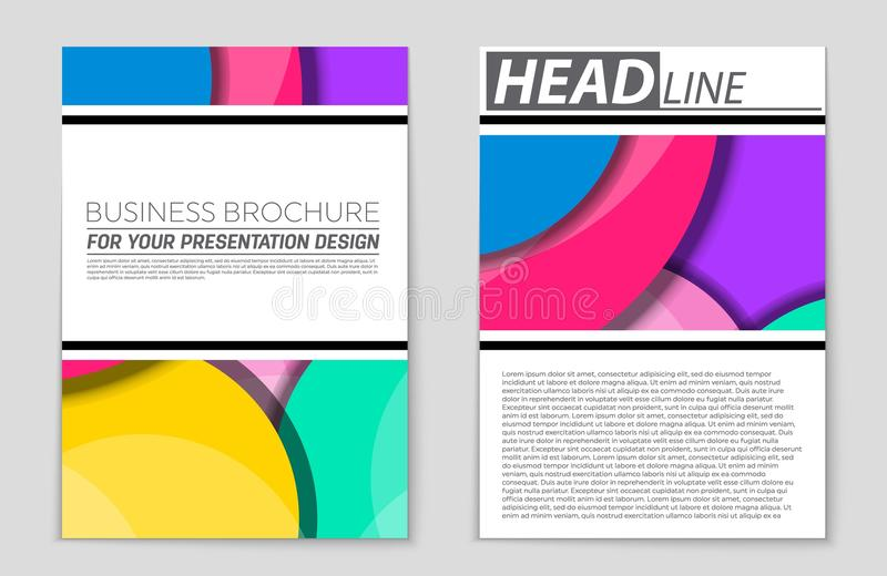 Abstract layout background set. For art template design, list, front page, mockup brochure theme style, banner, idea, cover. Booklet, print, flyer, book, blank vector illustration