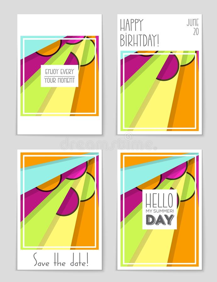 Abstract layout background set. For art template design, list, page, mockup brochure theme style, banner, idea, cover, book. Let, print, flyer, book blank card stock illustration