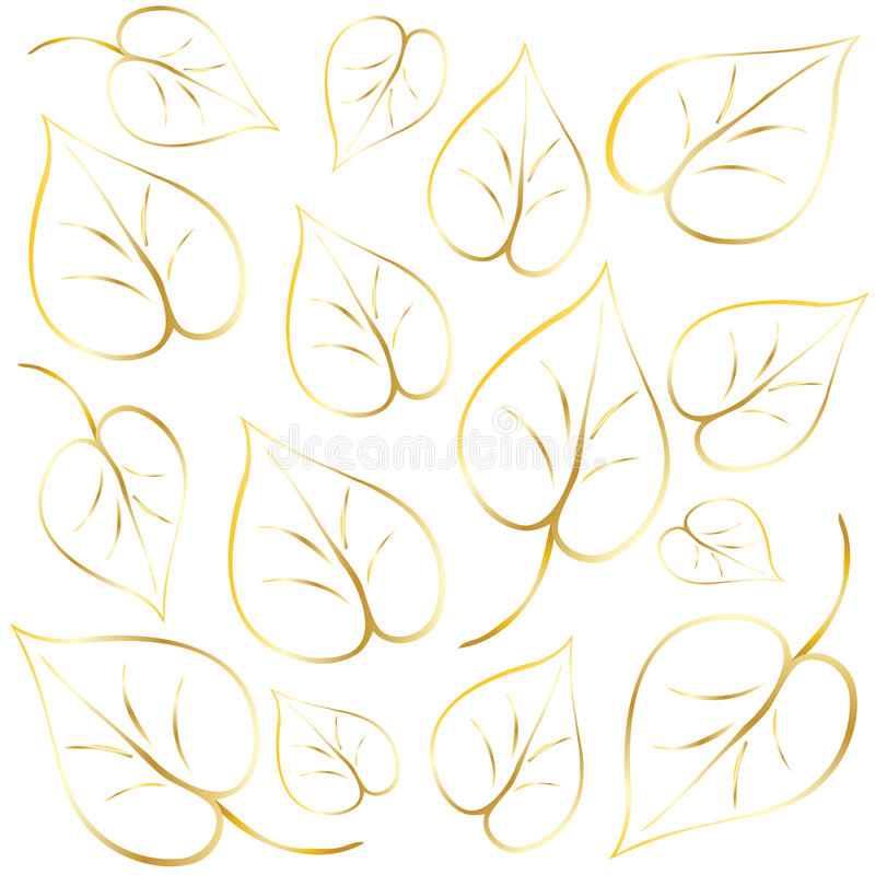 Abstract Leaves background royalty free illustration