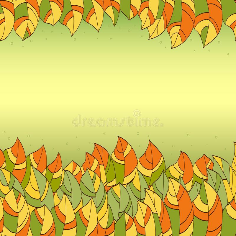 Download Abstract leaves frame stock vector. Illustration of border - 43630614