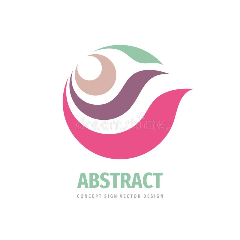 Abstract leaves and petals - concept logo design. Development nature logo sign. Vector illustration. stock illustration
