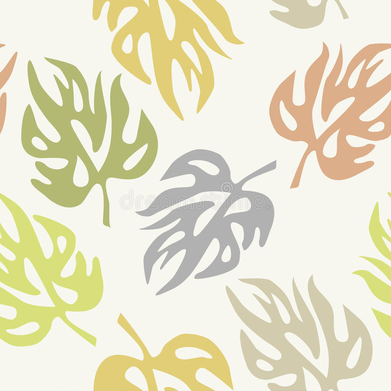 Abstract leaves on a seamless pattern wallpaper. Vector illustration