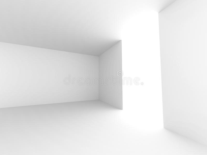 Abstract leeg wit ruimtebinnenland stock fotografie
