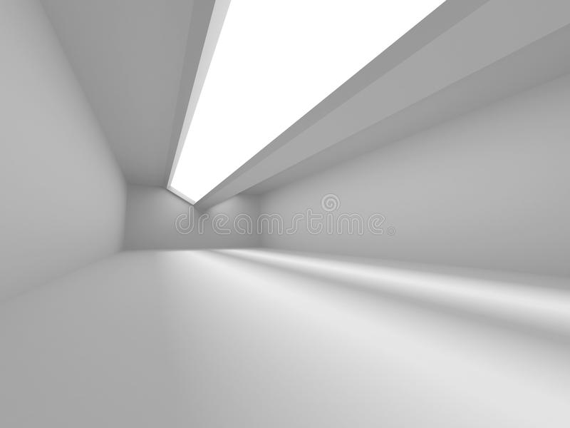 Abstract leeg wit ruimtebinnenland stock afbeelding