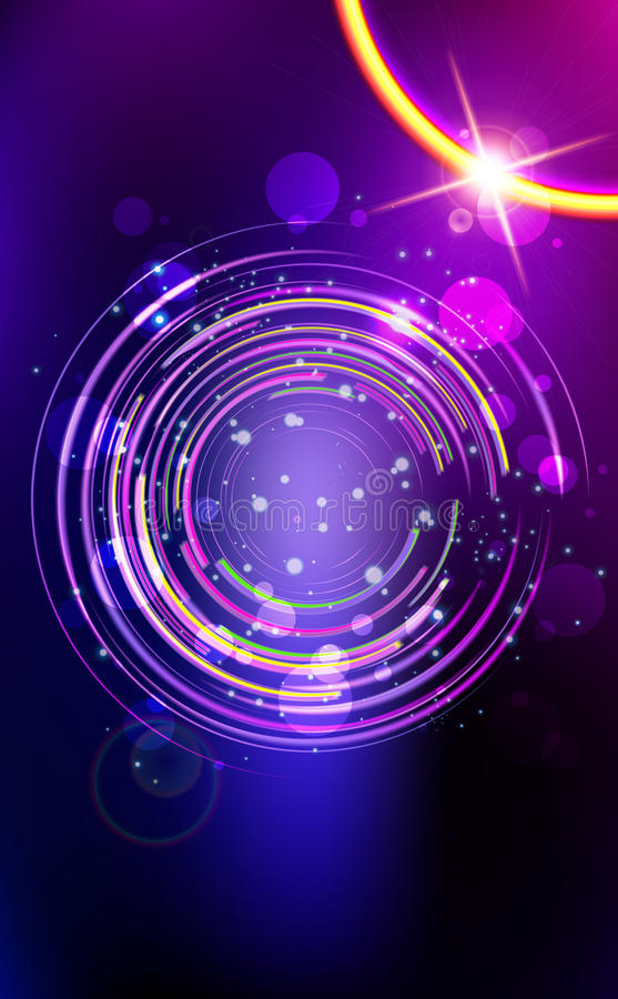 Abstract lens flare  background.