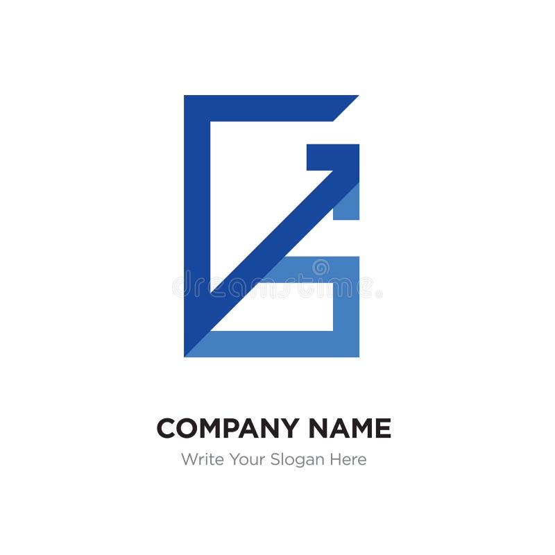 Abstract Letter Gssg Logo Design Template Blue Alphabet Initia