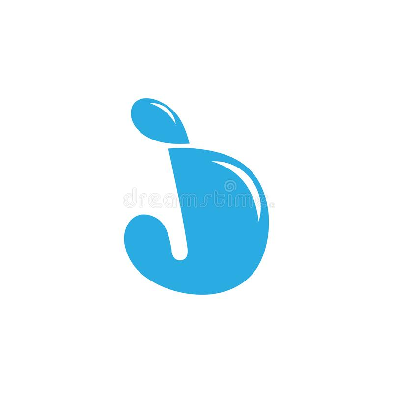 Abstract letter jd water design logo vector vector illustration
