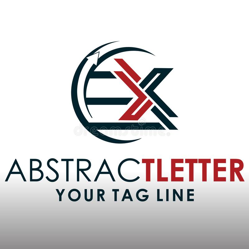 ABSTRACT LETTER LOGO EX 1 royalty free stock images