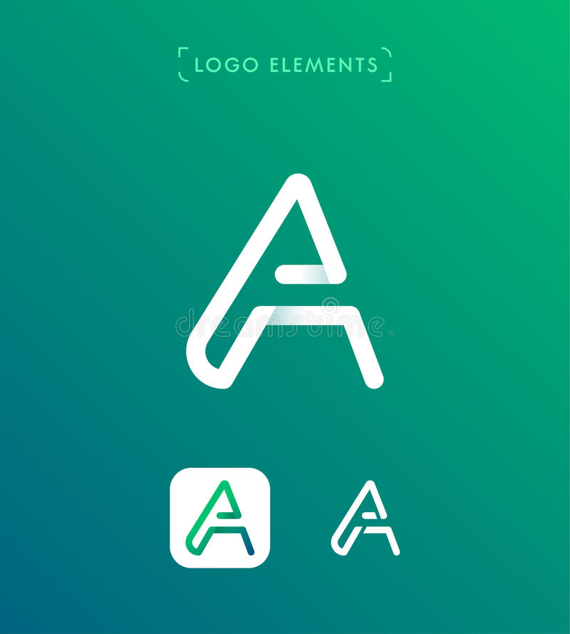 Abstract Letter A Origami Style Logo Template Stock Vector