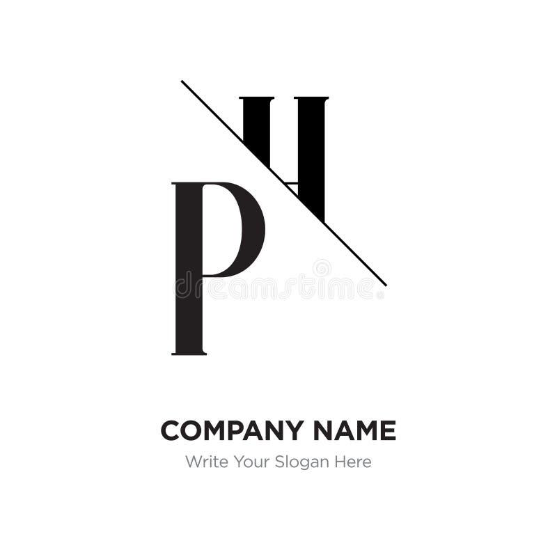 Abstract Letter PH,HP Logo Design Template, Black&white Alphabet ...