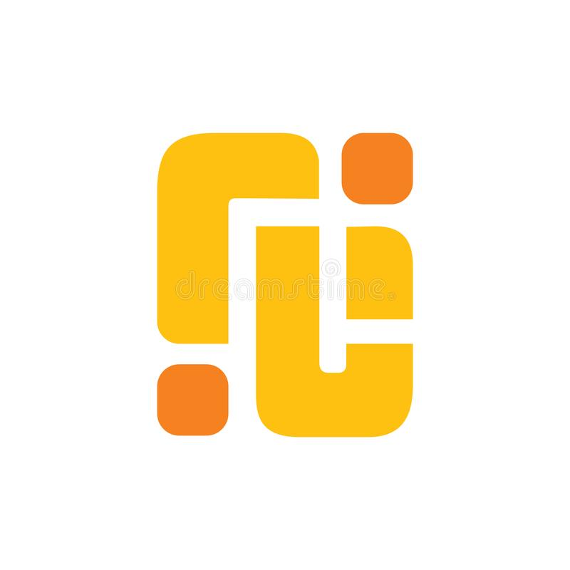 Abstract letter rj simple geometric logo vector stock illustration