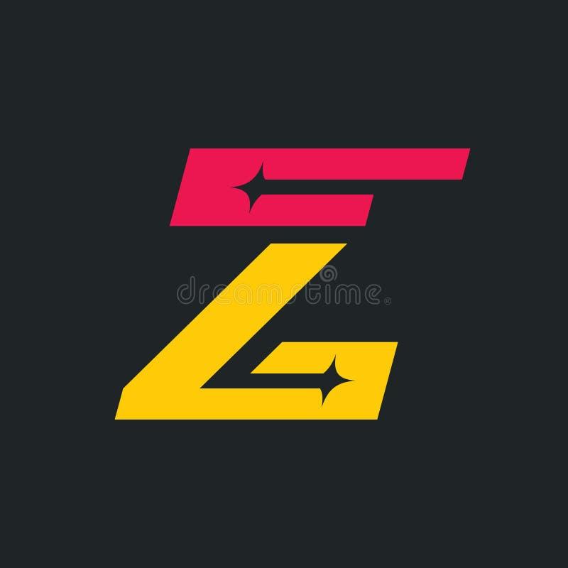 Sign of the letter Z. Vector Illustration. royalty free illustration