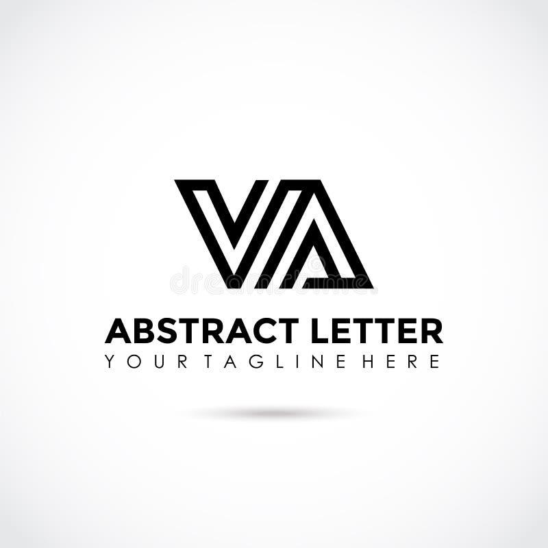 Abstract Letter VA Logo Design. Vector Illustrator Eps.10 royalty free illustration