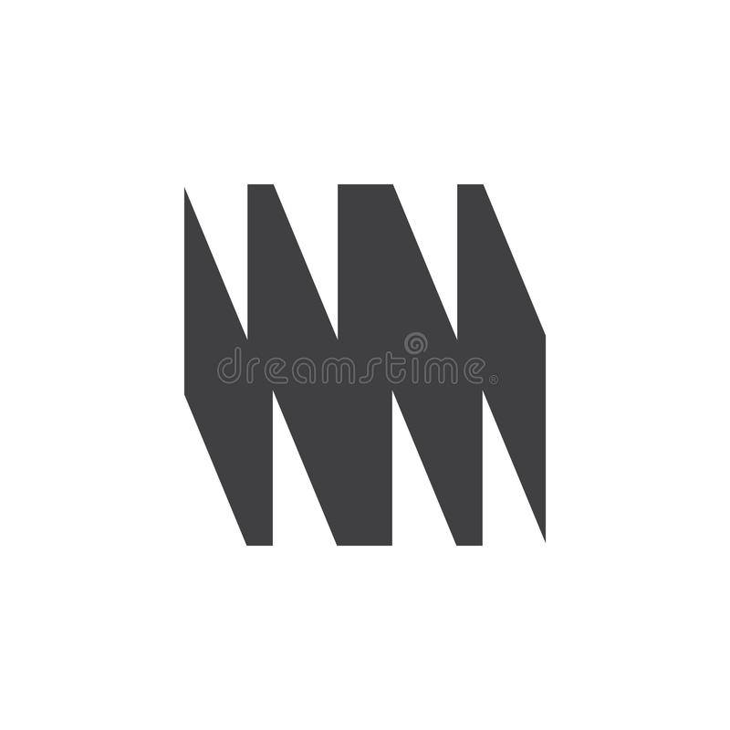 Abstract letter wm grunge design logo vector vector illustration