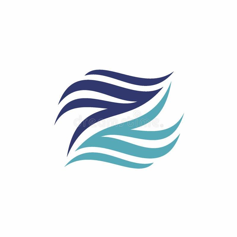 Abstract Letter Z or N logo design concept, Creative logo vector template vector illustration