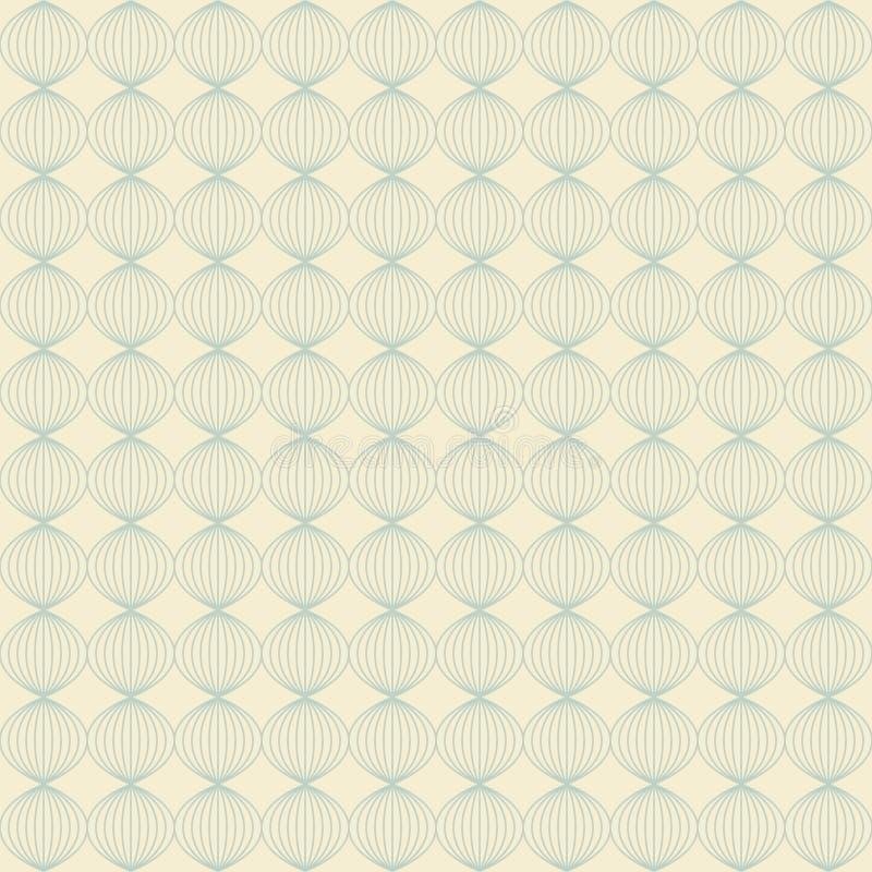 Abstract licht naadloos patroon van krommen vector illustratie