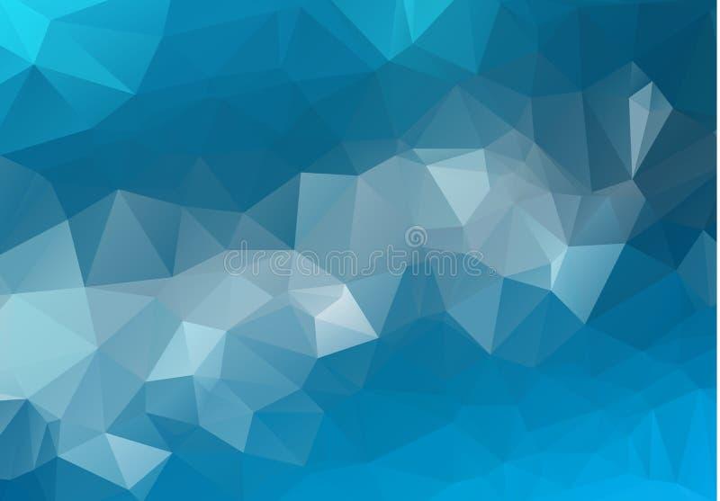 Abstract Lichtblauw vector onscherp driehoeksontwerp als achtergrond Geometrische achtergrond in Origamistijl met gradiënt royalty-vrije illustratie