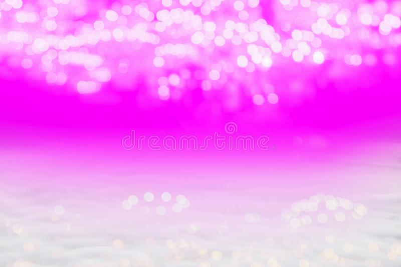 Abstract ligh pink light Bokeh background Soft white mist with copy space royalty free stock photography