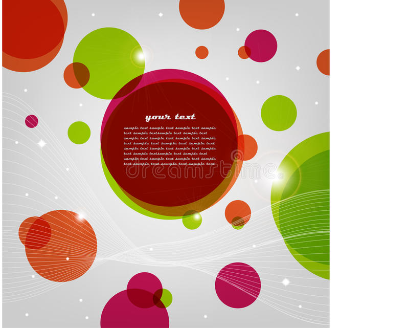Abstract light background with circles royalty free illustration