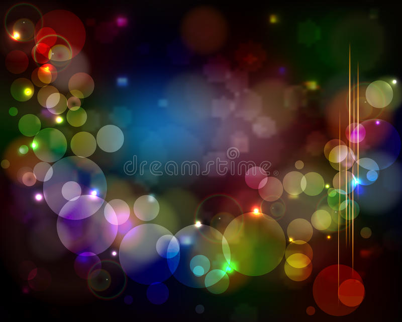 Abstract light background - glowing circles with lens flare. Abstract light vector background - glowing circles with lens flare vector illustration
