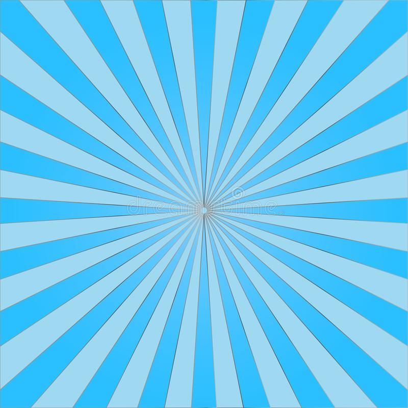 Abstract light blue sun rays background. Vector vector illustration