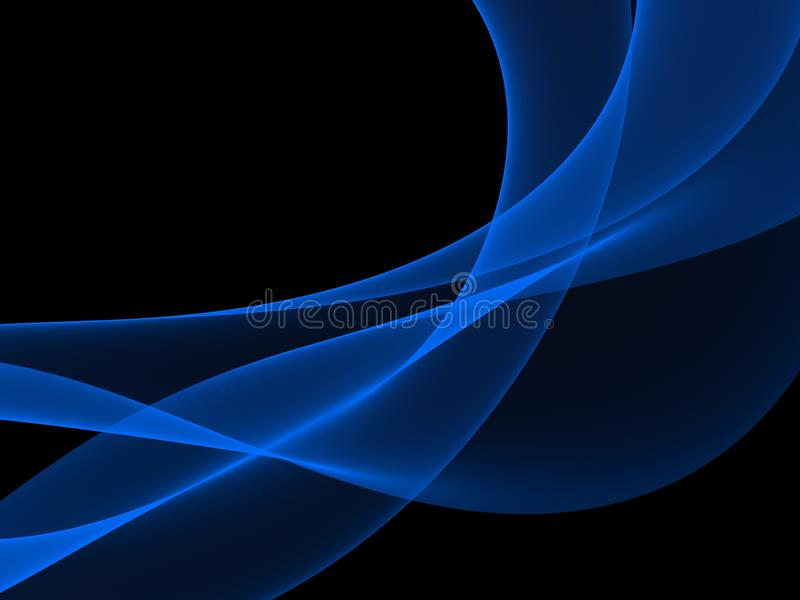Abstract Light blue wave royalty free illustration