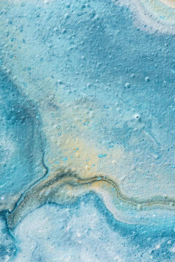 Abstract light blue and yellow textured of oil. Painting stock images