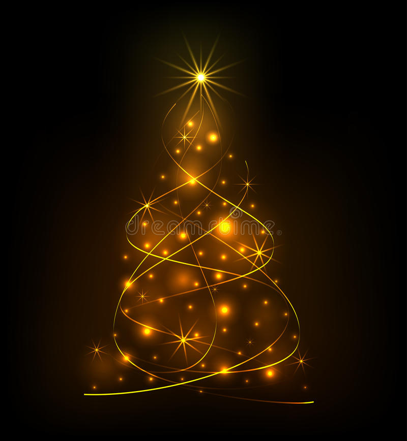 Abstract light Christmas tree royalty free stock images