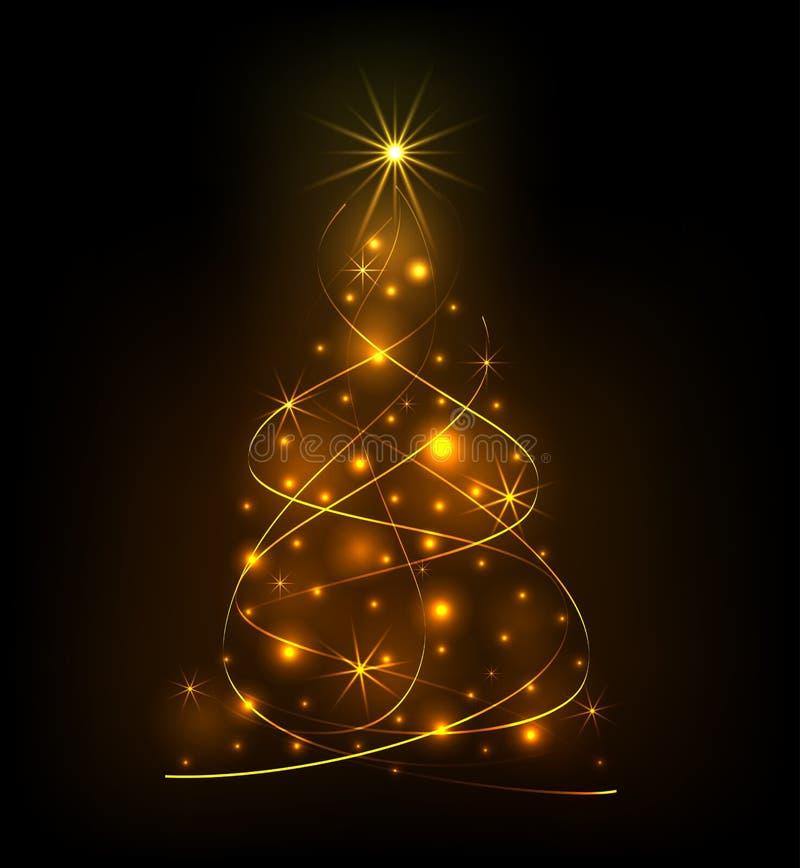 Abstract light Christmas tree royalty free illustration
