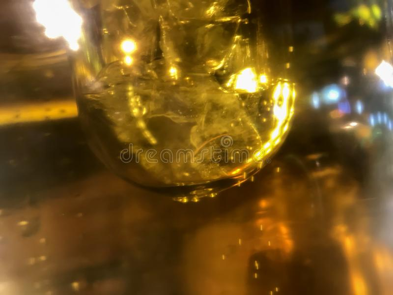Abstract light effect of close up beer tubes with beautiful bubbles in high magnification.  stock photos