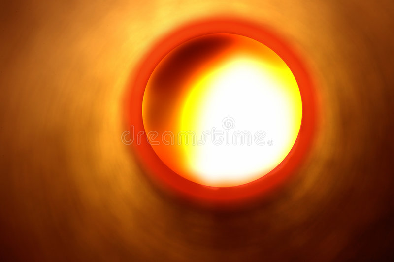 Abstract light at the end of the tunnel royalty free stock image