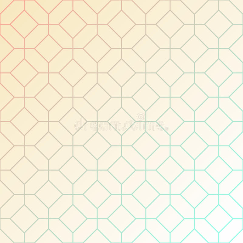 Abstract light geometric pattern of intersecting octagons and squares. vector illustration