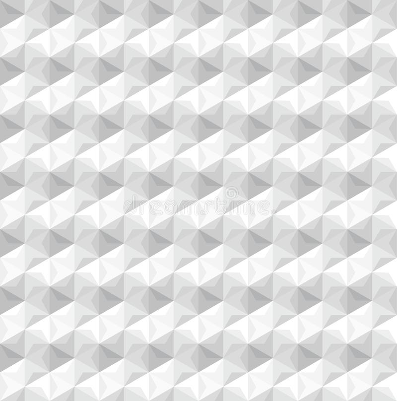 Light gray geometric hexagonal seamless subtle 3D pattern vector illustration