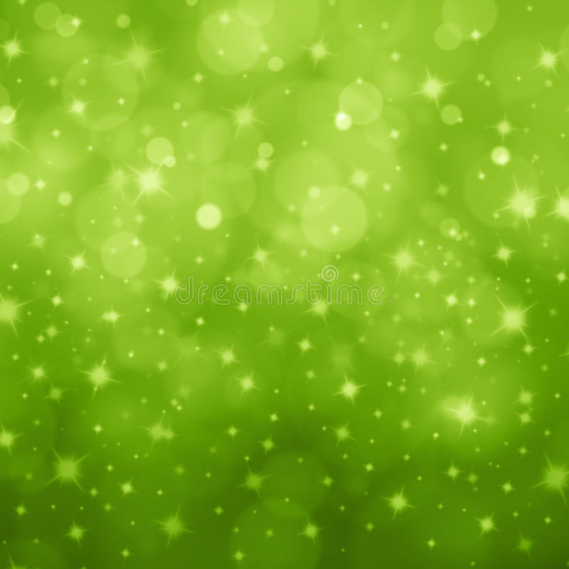 Abstract light green bokeh star royalty free stock image