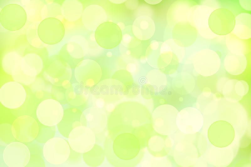 Abstract light green and yellow delicate elegant beautiful blurred background. Fresh modern light texture with soft style design. For happy spring and summer stock illustration