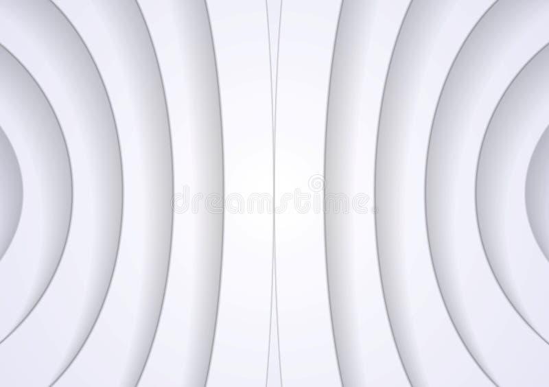 Abstract light grey tech pattern stock illustration