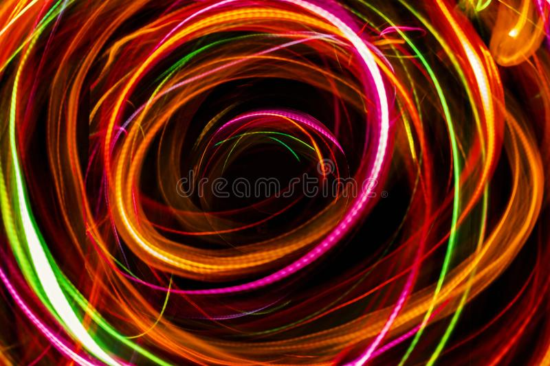Abstract light imagine to black hole in space. royalty free stock photography