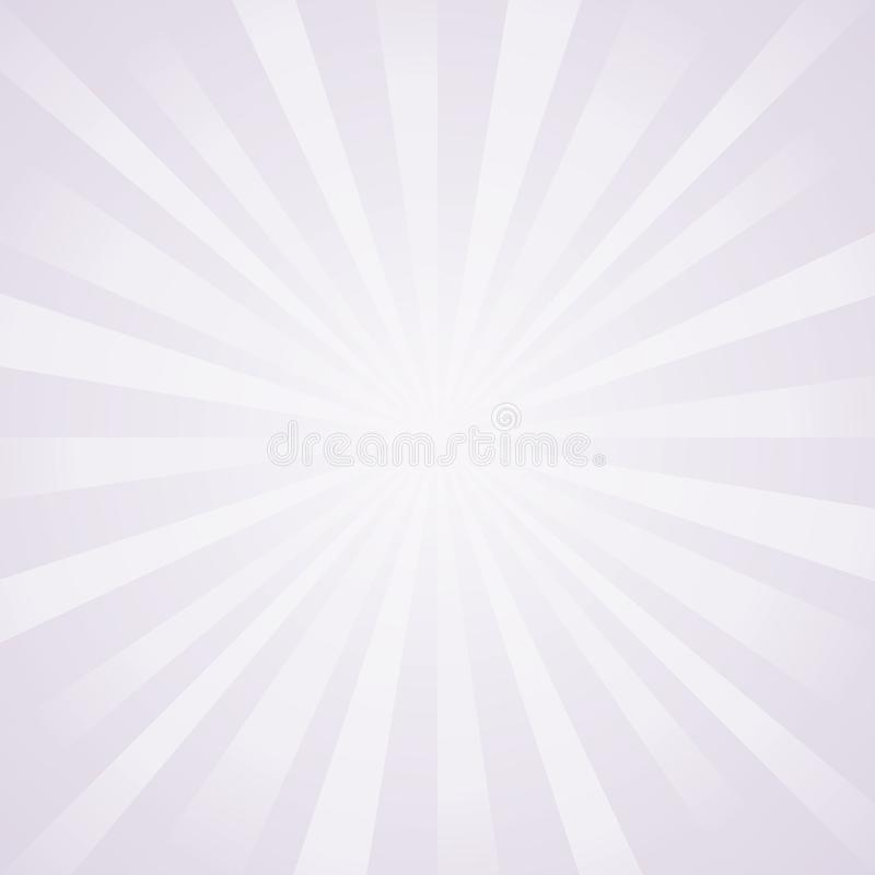 Abstract light lilac gray rays background. Vector royalty free illustration