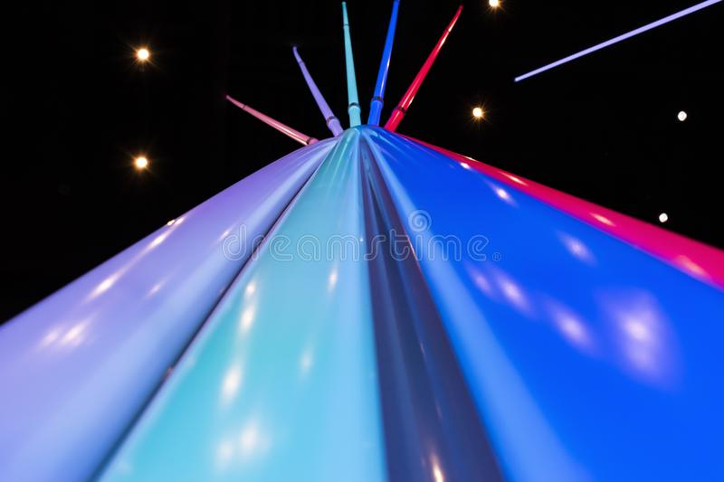 Abstract light lines. Colorful blurred abstract light lines royalty free stock photos