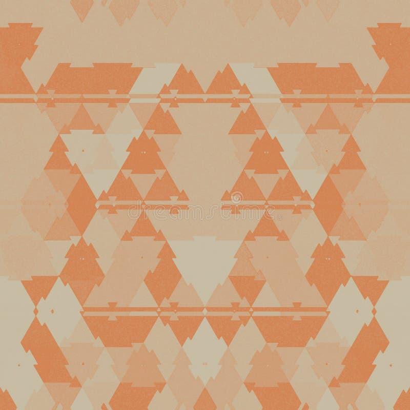 Abstract light orange  background. Geometric light orange background. Abstract art royalty free illustration
