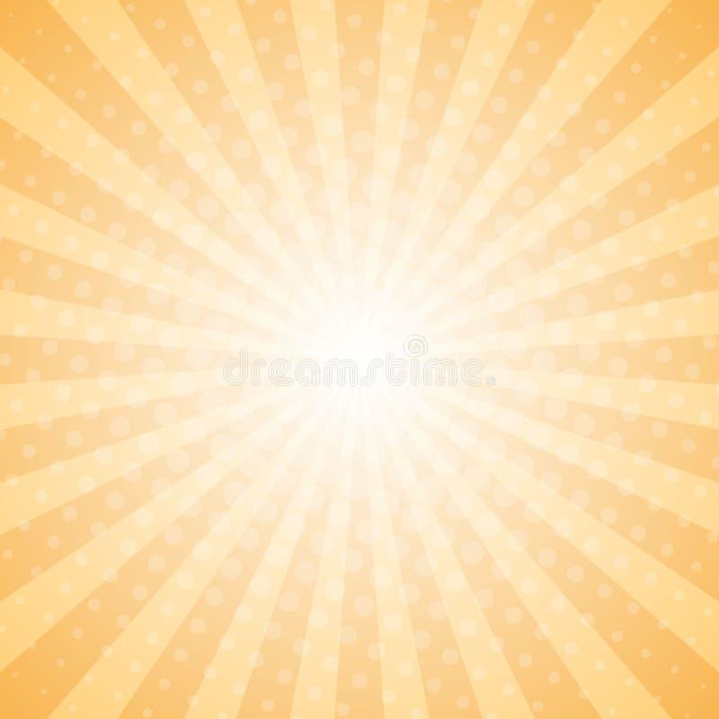 Abstract light rays halftone background stock illustration